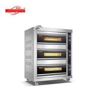 Commercial Gas Bread Oven Three Deck Six Tray
