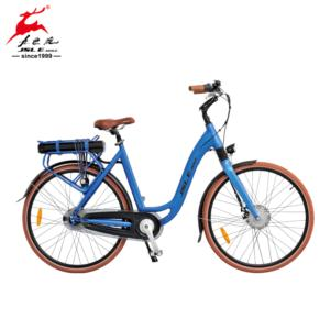 Hot Sell 700C Al Alloy Stepped Frame Women City Electric Bicycle