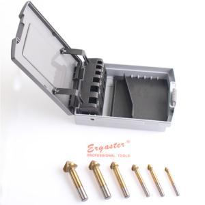6pcs DIN335C HSS countersinks set in plastic box