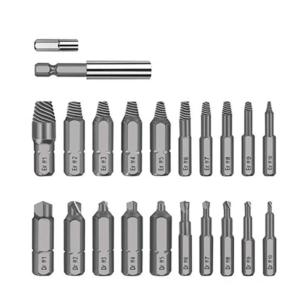 22PCS Screw Extractor-Separate Drilling Bits and Extracting Bits