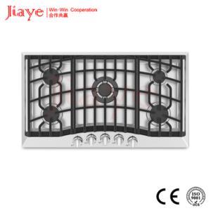 5 burners stainless steel gas hob