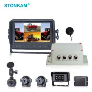 7 Inch Touchscreen Waterproof HD Quad-view Vehicle Monitoring System