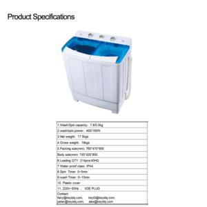 7.8KG Twin Tub Washing Machine