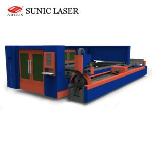 Enclosed Metal tube fiber laser cutter