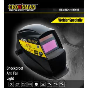 CROWNMAN Large View Screen Auto Darking Welding Mask