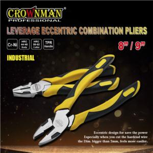 CROWNMAN Industrial Eccentric Combination Pliers