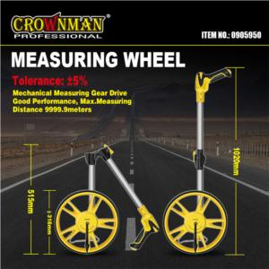 CROWNMAN Foldable Handle Measuring Wheel