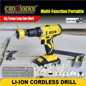 18V Rechargable LI-ION Cordless Power Drill