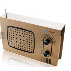 Cardboard AM/FM radio