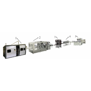 Automatic rotary bottled water filling machine