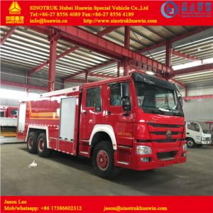 HOWO 6X4 Fire fighting truck