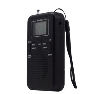 Multifunction Portable Mini Size Battery Operated AM FM Radio With Alarm Clock