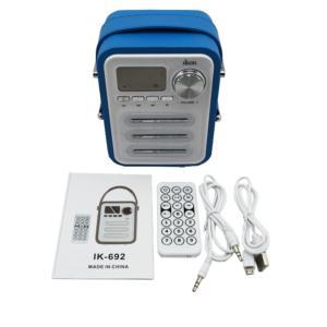 Fashionable Design Mini Portable Remote Control Wireless Bluetooth Speaker With Handle