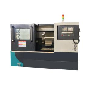 High Precision CNC Lathe with Slanting Bed