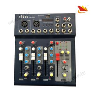 Professional 4 channel audio mixer with USB with Bluetooth