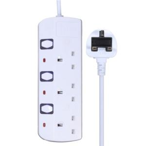 independent switch UK power extension strip socket