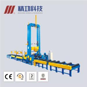 H-beam assembling machine、H-beam flange straightening machine