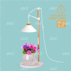 J&C MG-TG-002 grow light   Table lamp type  height adjustable  nordic design  wood&plastic material  suitable for pot plants  indoor light
