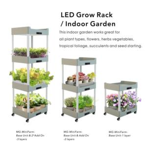 J&C MG-MiniFarm-Base Unit  indoor grow rack  grow light  home garden  grow light kits  grow stand  horticultural lighting  furniture lighting  decorative lighting  connectable  space saving