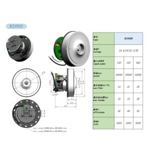 High suction brushless motor