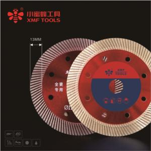 Hot-pressed super thin turbo saw blade