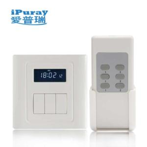 LCD Display Remote Control Switch with Delay for 3 Load