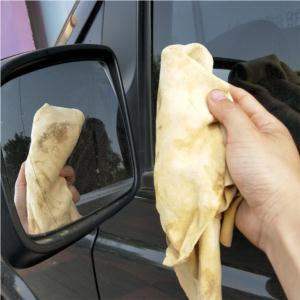 Super absorbent genuine Sheepskin natural chamois car cleaning cloth car drying chamois