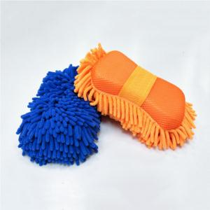 Chenille Car Washer Cleaning Sponge Micro Fiber Washing Gloves Auto Accessories Car Body Window Windshield Cleaning Tools