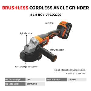 Brushless Cordless Angle Grinder