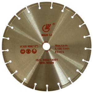 Diamond laser cutting blade