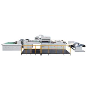 Roll paper die cutting stripping machine for box