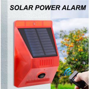 Remote control solar alarm