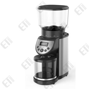 Coffee Grinder  Conical Coffee Grinder Mill  Integrated Scale  Brushed Stainless Steel