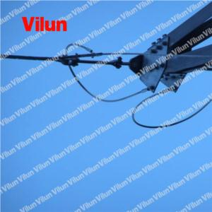 Helical dead end tension strain clamp for OPGW fiber optical cable