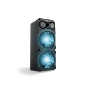 120W Party Speaker With FM Flashing Light Microphone Jack/Wireless Microphone/With Wheels