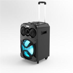 Trolley portable speaker outdoor portable bluetooth speaker with wheels led display
