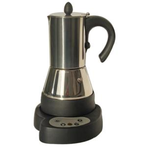 timer 4 cups stainless steel electric moka coffee maker