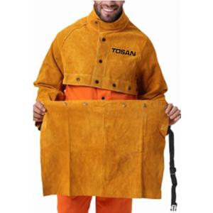 GOLD LEATHER APRON TOSAN