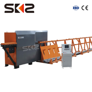 Double wire straihgtening and cutting machine