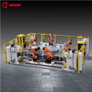 Automatic welding machine for shell and base plate