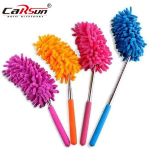 Extendable Microfibre Duster with Telescoping Pole  4 Pcs Washable Dusting Brush Set for Home  Office  Car