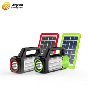 USB and Radio Rechargeable Energy Kit Led Solar Emergency Light for Home Use (Green)