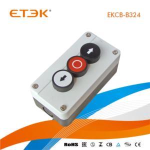 EKCB-B324 Three Spring Return Pushbutton 1flush White 1flush Red 1flush Black Control Box