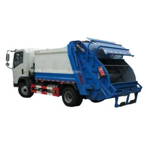 4X2 garbage compactor truck