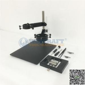 Hot Air Gun Clamp Stand Holder With Two Fixtures Clamp for SMD Rework Mobile Phone Repair Soldering Station