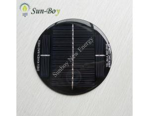 9V 130mA Round Shape Epoxy Solar Panel
