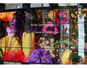 Glass LED displays/ Transparent LED displays /Glass Wall Screen P8/P10/P12/P14.65/P16/P20
