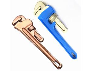 Non sparking aluminum bronze alloy pipe wrench factory
