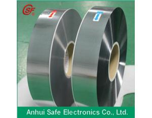 zinc aluminum alloy metallized film Good withstand voltage PET metalized film