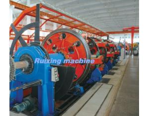 630 Cage stranding machine for steel-armoring and Cu-screening the cables